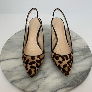 "Calvin Klein ""Natt""sling-back leopard heels"
